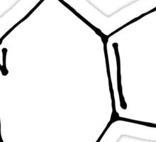Hand drawn caffeine molecule molecular structure Sticker