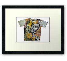yoga men t shirt Buddha Ganesha cotton Framed Print