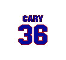 National baseball player Chuck Cary jersey 36 Photographic Print