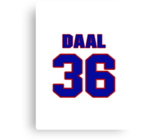 National baseball player Omar Daal jersey 36 Canvas Print
