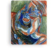 Centrifugal Form (Oil Pastels)- Metal Print