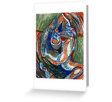 Centrifugal Form (Oil Pastels)- Greeting Card