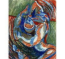 Centrifugal Form (Oil Pastels)- Photographic Print