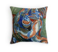Centrifugal Form (Oil Pastels)- Throw Pillow