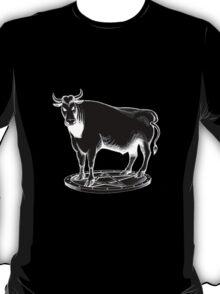 Black and white bull graphic design T-Shirt