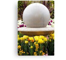 Flowers Around The Sphere Canvas Print