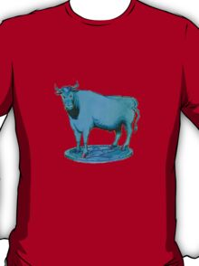 Blue bull graphic design T-Shirt