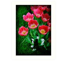 Tiptoe through the Tulips Art Print