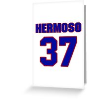 National baseball player Remy Hermoso jersey 37 Greeting Card