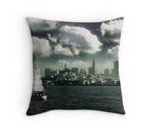 Sailing on the Bay Throw Pillow