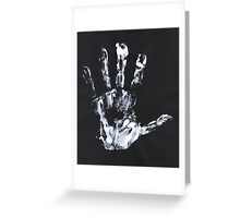 Palm print black & white Greeting Card