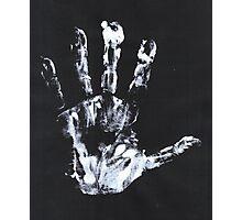 Palm print black & white Photographic Print