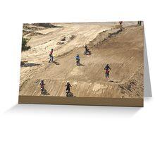 Loretta Lynn's SW Area - Wind Whipped Mini Rider! Competitive Edge MX Hesperia, CA, (1100 Views as of 5-9-11) Greeting Card