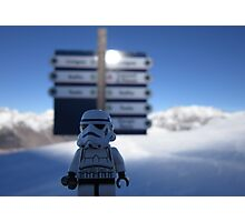 Dave Stormtrooper  Lost on the Slopes Photographic Print