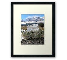 Frozen in Earth Framed Print
