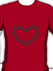 Paw Prints Heart T-Shirt