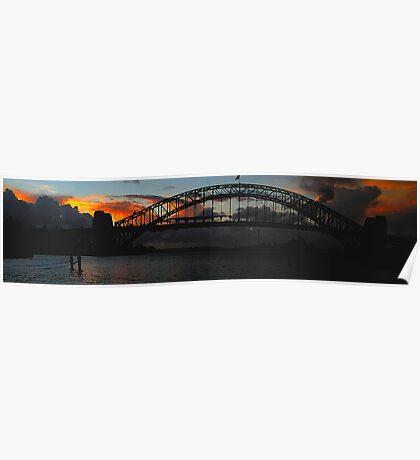 Dark & Rouge - Sunrise Over Sydney Harbour, Moods Of A CitySydney Australia Poster