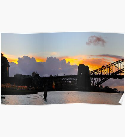 Shadows on A Sunrise - Sydney Harbour Poster