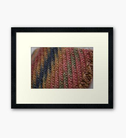 Knitted Weave Framed Print