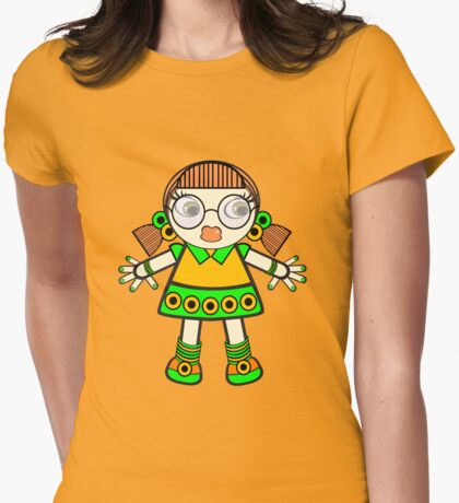 tangerine baby Womens Fitted T-Shirt