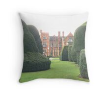 Heslington Hall From The Topiary Garden. Throw Pillow