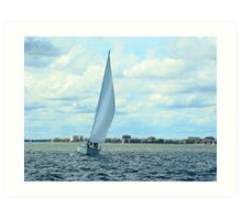 Sailing in the Jettys Art Print