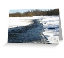 WINTRY SCEEN. Greeting Card