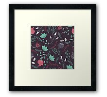 Fantasy flowers pattern Framed Print