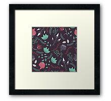 Fantasy flowers pattern Framed Print