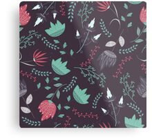 Fantasy flowers pattern Metal Print