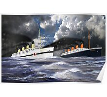 RMS Titanic and her sister the HMHS Britannic Poster