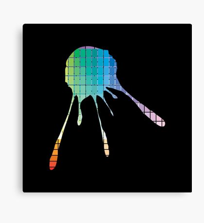 Color Chart Splat Canvas Print