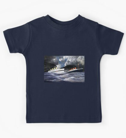 RMS Titanic and her sister the HMHS Britannic Kids Tee