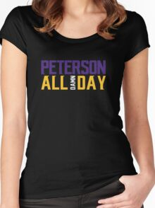 Adrian Peterson - ALL DAMN DAY! Women's Fitted Scoop T-Shirt