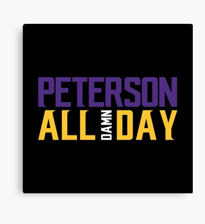 Adrian Peterson - ALL DAMN DAY! Canvas Print