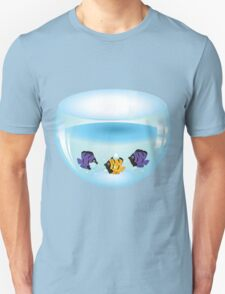 Cartoon colorful fishes swimming in the water in a fishbowl T-Shirt