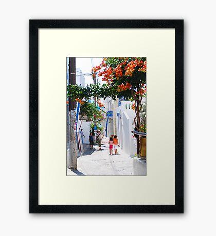 Children of Mykonos Framed Print