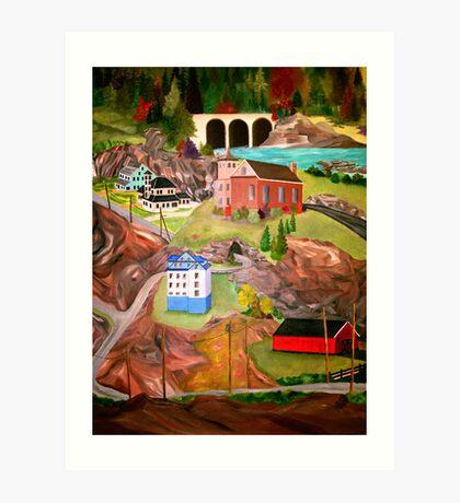 Rural Living At A Glance Art Print