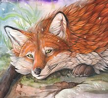 Winter fox by Rainbow Foxes