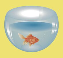 Gold fish swimming in the water in a fishbowl 2 One Piece - Short Sleeve