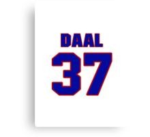 National baseball player Omar Daal jersey 37 Canvas Print