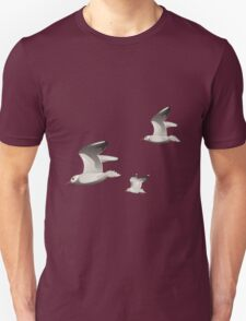 Flying seagulls  Unisex T-Shirt
