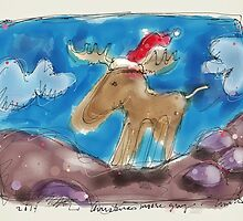 Christmas morning moose guy by Peter Ciccariello
