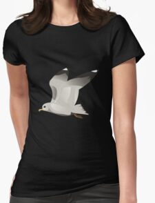 Flying seagull 2 Womens Fitted T-Shirt