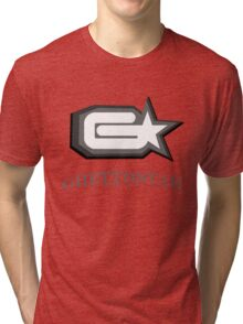 GHETTOSTAR 3 black n white Tri-blend T-Shirt