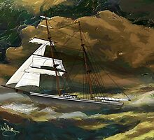 Mary Celeste 1872 design by Dennis Melling
