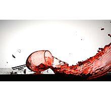 Smashing Wine Glass Photographic Print