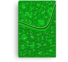 St. Patrick's day background with shamrocks Canvas Print