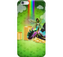 St Patrick's day background with coins and fairy 2 iPhone Case/Skin
