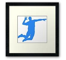 Blue Volleyball Serve Framed Print